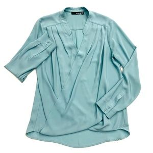 Ro & De Draped Front Long Sleeve Top